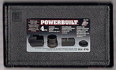 Wholesale lot of 4 Complete Sets  Powerbuilt Honda Lower Ball Joint Adapter #76