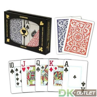 COPAG Plastic Playing Cards, Red/Blue, Poker Size, Jumbo Index