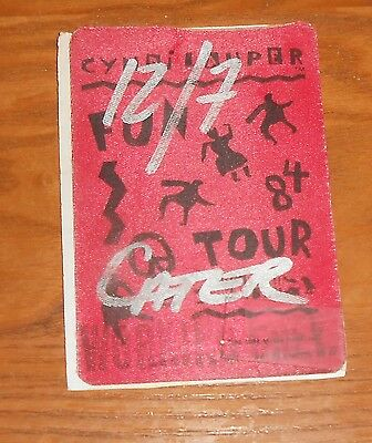 Cyndi Lauper Fun Tour Backstage Pass 3x5
