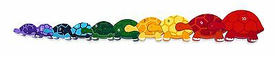 Tortoise Row 1-10 Number Jigsaw Puzzle - Chunky, Bright & Educational - 65x8cms