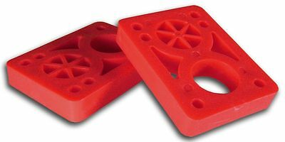 "Vision Psycho Brand 1/2"" Hard Dual Bolt Pattern Skateboard Risers RED"