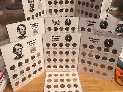 1941 - 2017   Lincoln Cent Set; Wheatback & Memorial; PDS; In Coin Folders!!