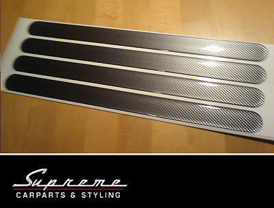 Bumper Socket strips - 4 Pcs 330x25mm - Carbon Look, universal can be used
