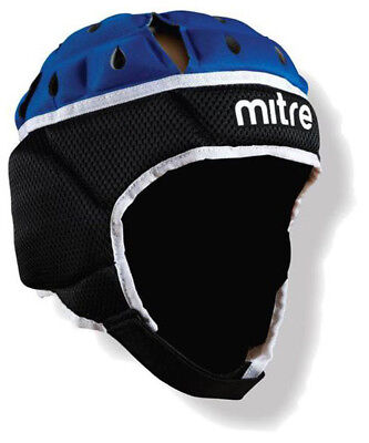 Mitre Maxi Cool Rugby Head Guard Black/Blue Size Small & Large IRB Approved NEW