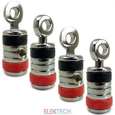 4 Pack Stinger ShocKrome 0 Gauge AWG PRO Ring Terminal Power Ground Wire SPT520