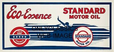 1930 STANDARD MOTOR OIL Eco-Essence AUTO RACING KOW POSTER ART DECO INDY RACER