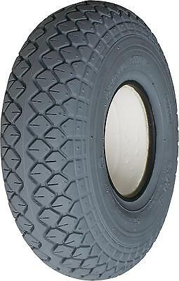 2 x Grey Puncture Proof Tyres 330x100 400x5  Diamond  Tread for Mobility Scooter