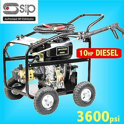 SIP 08928 10hp 3600psi Diesel Jet Pressure Washer farm yard truck bus cleaner