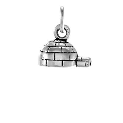 TheCharmWorks 925 Sterling Silver Snowman on Skis Charm