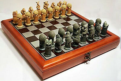 NEW Veronese Australian Chess Pieces with Timber Storage Board / Box 40cm