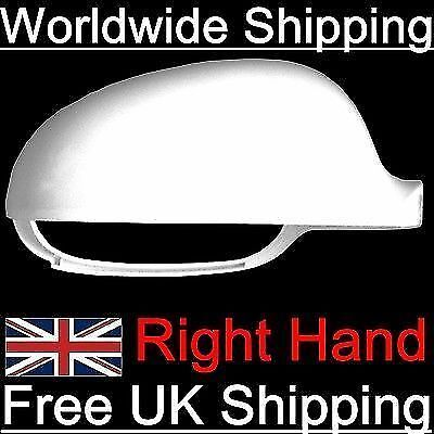 VW Golf MK5 Driver Side Wing Mirror Cover Housing Casing Cap Candy White Right