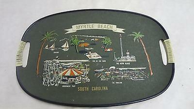 Vintage Myrtle Beach Serving Tray South Carolina made in Japan with handles