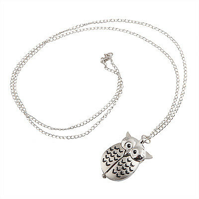 TRIXES Owl Watch Necklace Fashionable Cute Pendant