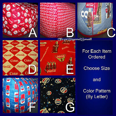 Coca Cola or Pepsi Cola Logo Quilted Fabric 4-Slice or 2-Slice Toaster Cover NEW