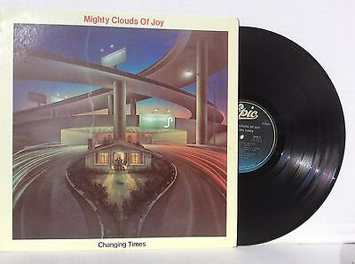 Mighty Clouds of Joy CHANGING TIMES vinyl LP Epic MINT black gospel+bonus CD
