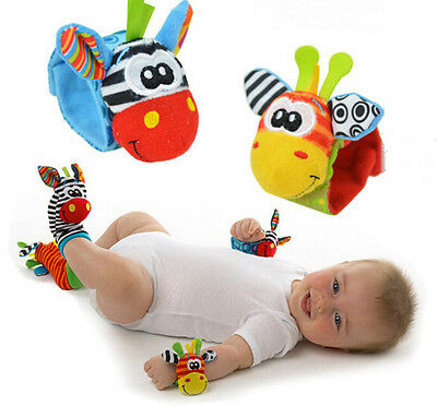 1 Pc Trendy Single Sock or Wristband Rattles Developmental Toy For Infant Baby