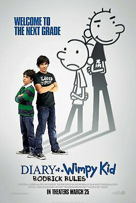 Diary of Wimpy Kid : Rodrick Rules Two Sided Original Movie Poster 27x40 inches