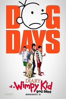 Diary of Wimpy Kid Dog Days Adv Double Sided Original Movie Poster 27x40 inches