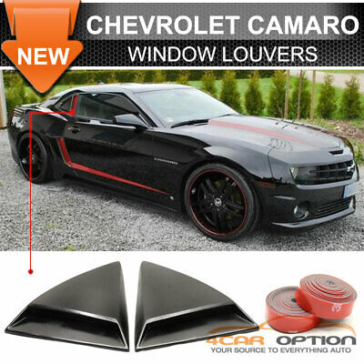 Fits 10-15 Chevrolet Chevy Camaro Rear Quarter Side Window Louvers Scoops