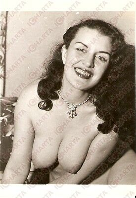 1950 ca USA - EROTICA VINTAGE Naked woman with necklace *PHOTO