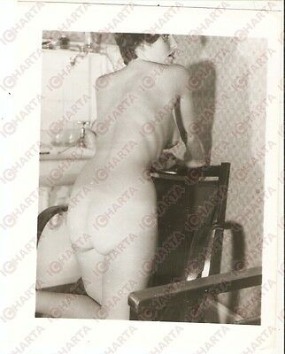 1950 ca USA - EROTICA VINTAGE Sexy girl show herself on an armchair *PHOTO