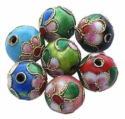 A Pack of 20 x 8mm Round Cloisonne Beads  J1172.    R0131