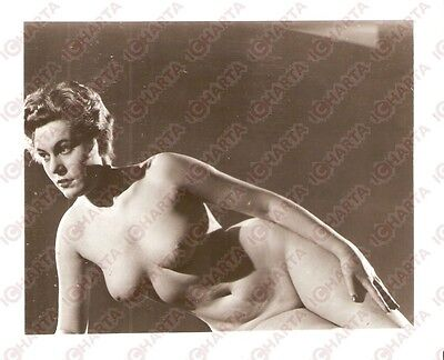 1950 ca USA - EROTICA VINTAGE Naked woman as a statue of Venus *PHOTO