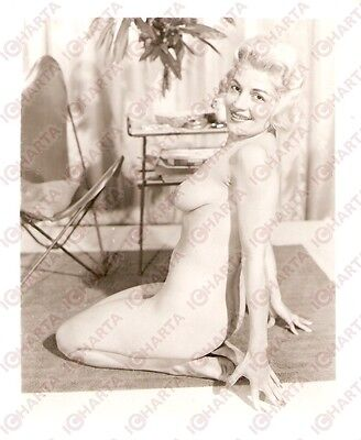 1950 ca USA - EROTICA VINTAGE Sexy naked girl on the carpet *PHOTO