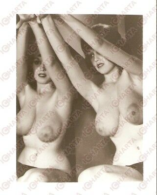 1950 ca USA - EROTICA VINTAGE Hot twins dancing naked *PHOTO