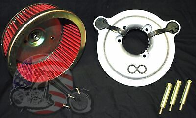 Sucker High Flow Stage 1 Air Cleaner Kit Filter Intake Harley Big Twin Cam Raw