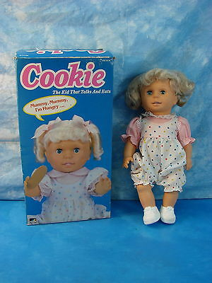 Vintage Cookie Doll by Spectra w/ Original Box TALKING EATING DOLL 1992