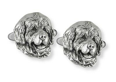 Handmade Newfoundland Dog Cufflinks Jewelry Sterling Silver   HM-NU2-CL