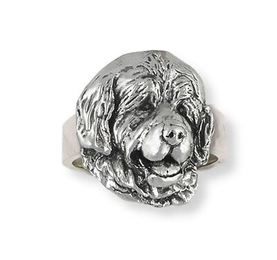 Handmade Newfoundland Dog Ring Jewelry Sterling Silver   HM-NU2-R