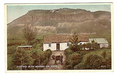 A Cottage On The Mountain Side - Sligo Photo Postcard c1920s