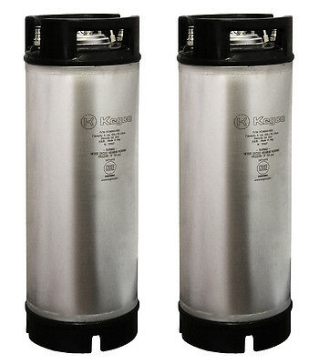 Kegco Home Brew Beer Kegs - Ball Lock 5 Gallon Rubber Top - Set of 2