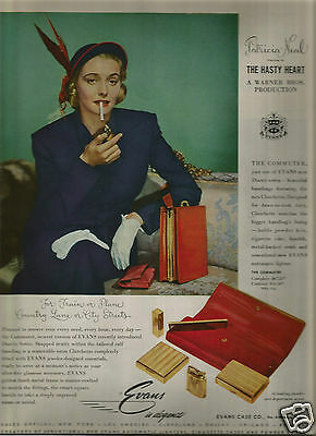 40's Vintage Evans Case Company Advertisement - Patricia Neal 1949