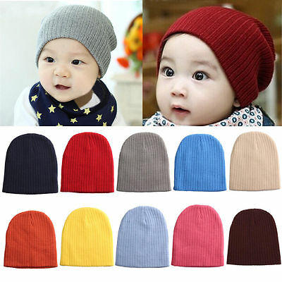 NEW Baby Beanie Boy Girls Soft Hat Children Winter Warm Kids Knitted Crochet Cap