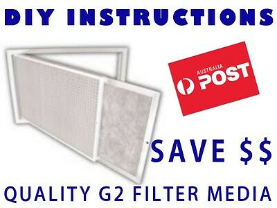 Air Conditioner Return Air Filter Media Material - 550x750mm G2 - Universal