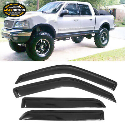 For 01-03 Ford F150 Crew Cab Acrylic Window Visors 4Pc Set