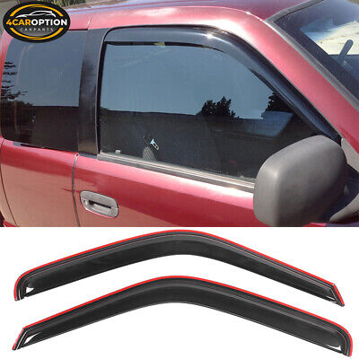 For 94-01 Dodge Ram Coupe In Channel Style Acrylic Window Visors 2Pc Set