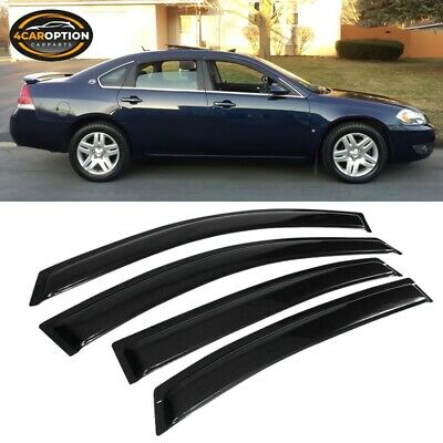 For 06-13 Chevy Impala Sedan Acrylic Window Visors 4Pc Set