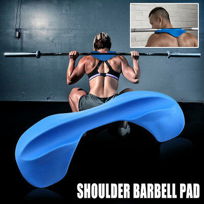 Weight Lifting Squat Pad Shoulder Support Arm Blaster Barbell Stabilizer Blue