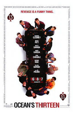 Ocean's 13 Version B Double Sided Original Movie Poster 27x40 inches