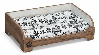 PRESTIGE WICKER VINTAGE STYLE BEDS shabby chic wooden dog cat cushion