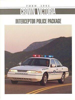 1994 Ford Crown Victoria Police Package Brochure - Mint