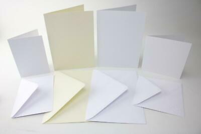Craft UK A6 A5 Square Hammered Folding Cards And Envelopes
