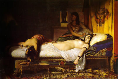 Custom Handmade Jean Andre Rixens Oil Painting repro The Death of Cleopatra