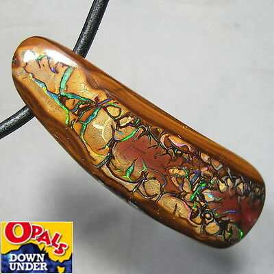 Magnificent Pattern * Big 77ct Natural Australian Koroit Boulder Opal Pendant