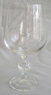 Water Glass Goblet Bohemia Crystal Import Assoc Claudia Pattern