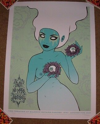 FAITH NO MORE concert gig poster print NEW YORK 8-5-15 2015 tara mcpherson